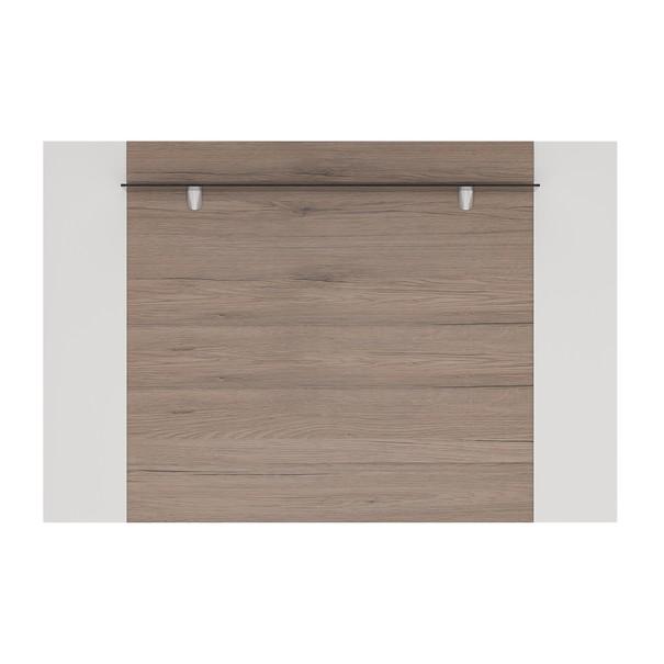 Nástěnný panel MILANO  bílá vysoký lesk/dub sanremo 3