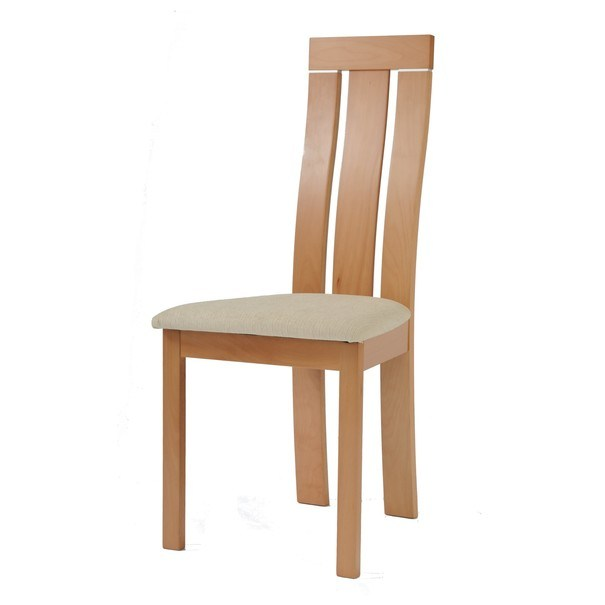 Jedálenská stolička MILENA buk/krémová 1