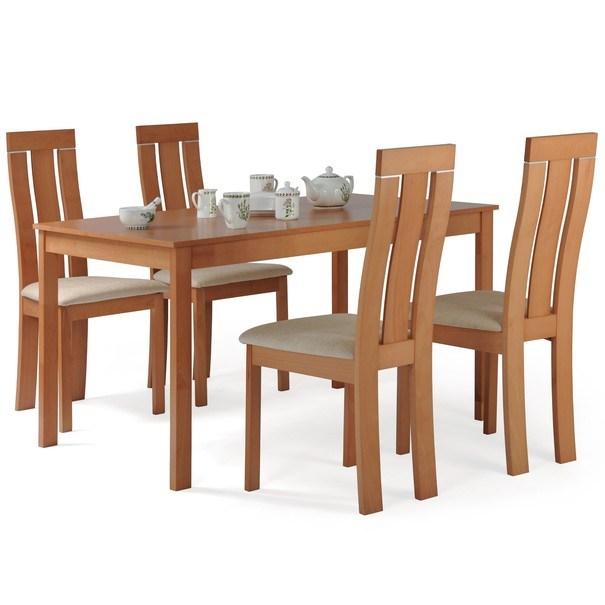 Jedálenská stolička MILENA buk/krémová 2
