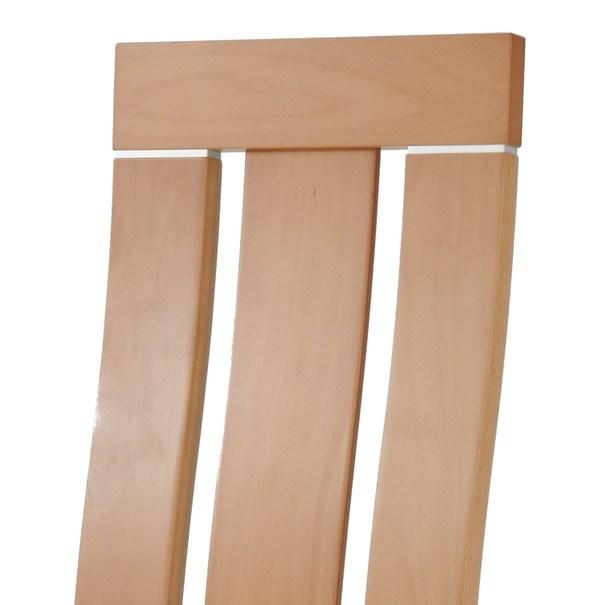 Jedálenská stolička MILENA buk/krémová 4