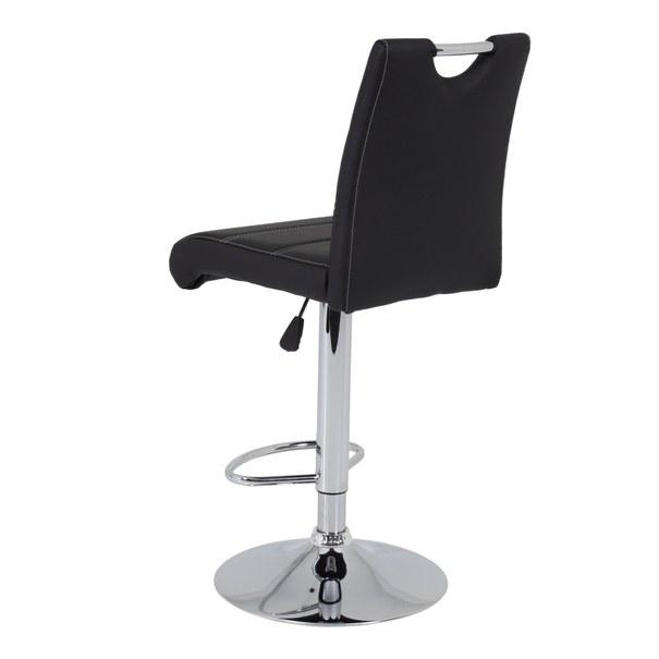 Barová židle MIRANDA H černá/stříbrná 3