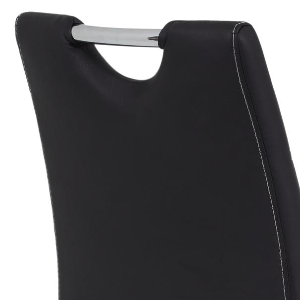 Barová židle MIRANDA H černá/stříbrná 6