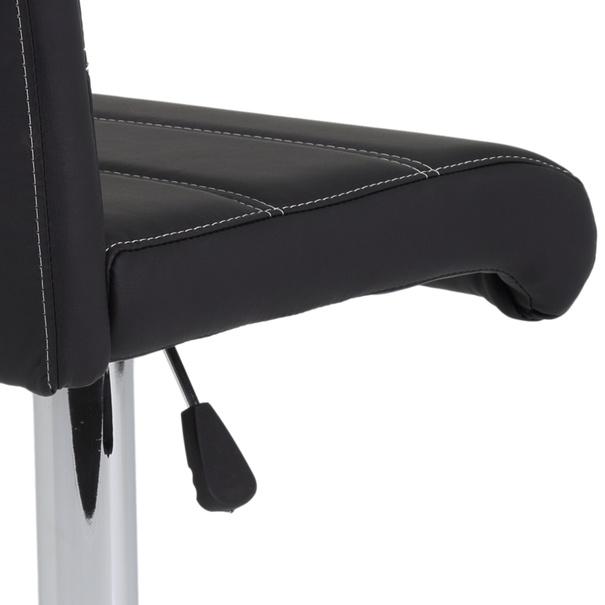 Barová židle MIRANDA H černá/stříbrná 7