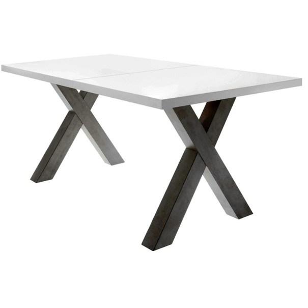Jedálenský stôl MISTER X biela matná/grafitová 1