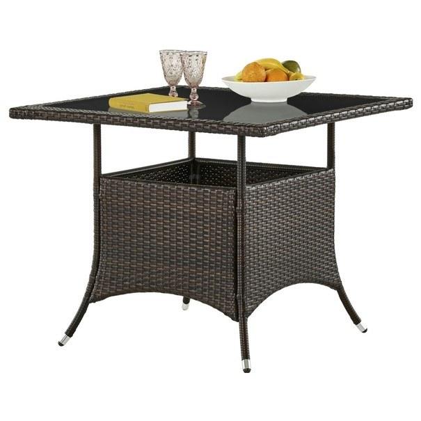 Záhradný stôl MODENA 3 hnedá/čierna 6