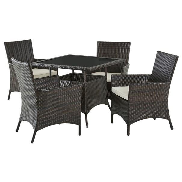 Záhradný stôl MODENA 3 hnedá/čierna 7