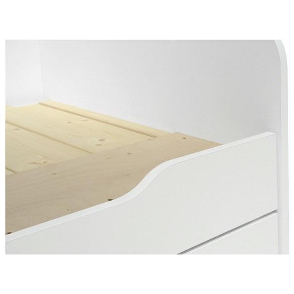 Postel s výsuvným lůžkem MONA bílá, 160x200 cm 4