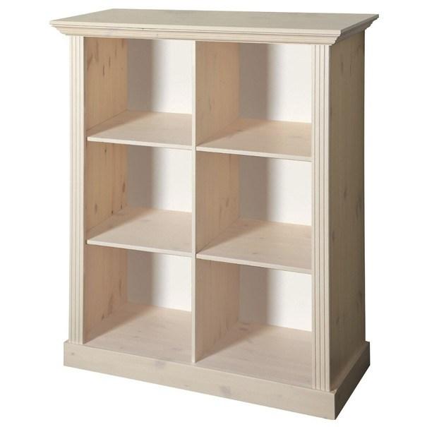 Regál / knihovna MONACO 144 borovice bílá 1