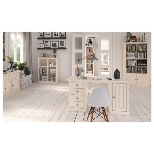 Písací stôl MONACO 175 borovice biela 2