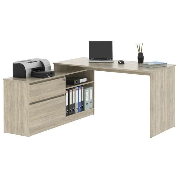 Rohový psací stůl MONOBLOK 1 dub sonoma 1