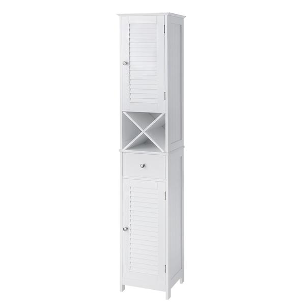 Sconto Vysoká skříňka NANTES bílá