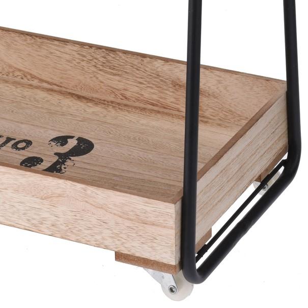 Regál NB1700290 masívne drevo/čierna 4
