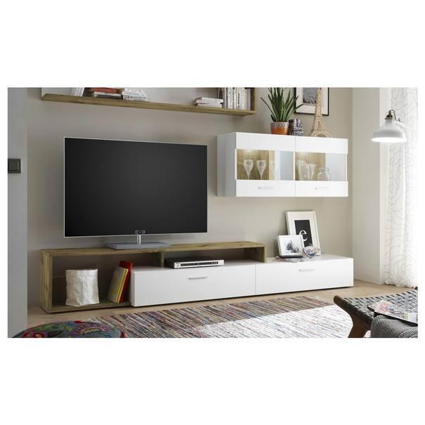 Obývací stěna NEW VISION 3 dub artisan/bílá 2