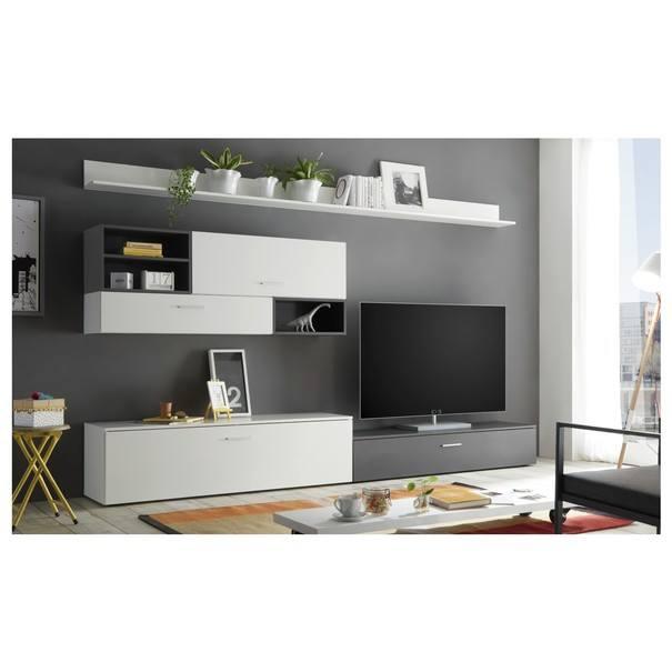 Obývací stěna  NEW VISION 6 bílá/šedá 2