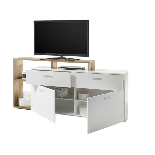 TV stolek NEW VISION  bílá/old style 2