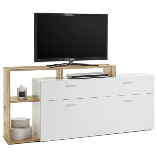 TV stolek NEW VISION  bílá/old style 3