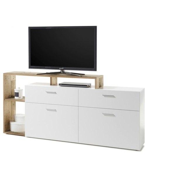 TV stolek NEW VISION  bílá/old style 5