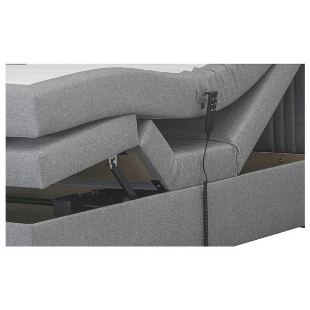 Postel boxspring NIGEL šedá, 180x200 cm 4