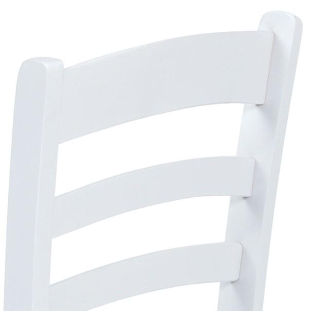 Jedálenská stolička NIKITA biela 4