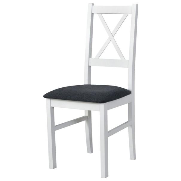 Jedálenská stolička NILA 10 tmavosivá/biela 1