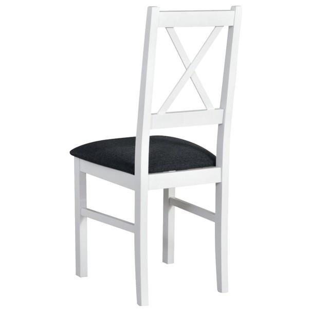 Jedálenská stolička NILA 10 tmavosivá/biela 2