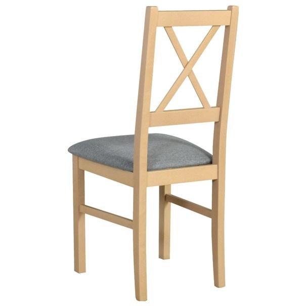 Jídelní židle NILA 10 světle šedá/dub sonoma 2