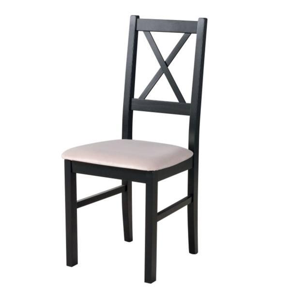 Sconto Jídelní židle NILA 10 černá/béžová - nábytek SCONTO nábytek.cz