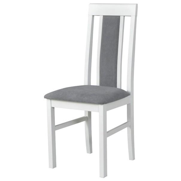 Jídelní židle NILA 2 šedá/bílá 1