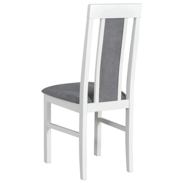 Jídelní židle NILA 2 šedá/bílá 2
