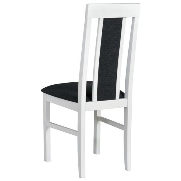 Jídelní židle NILA 2 tmavě šedá/bílá 2