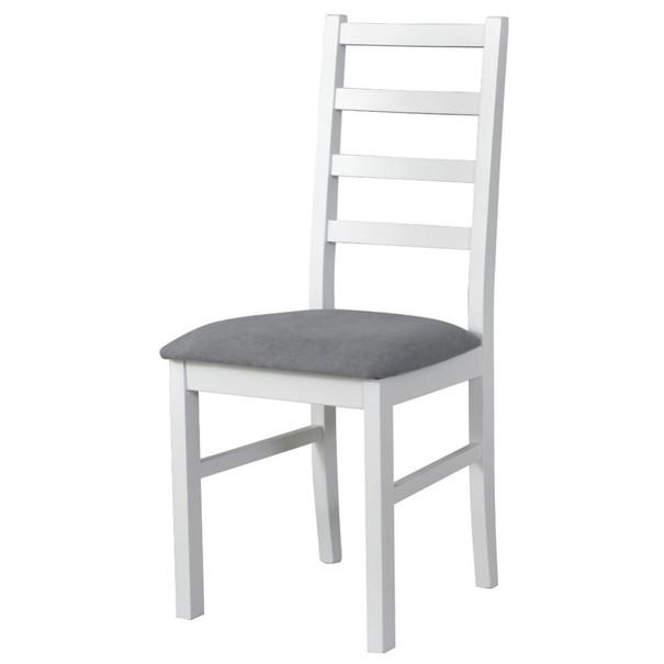 Sconto Jídelní židle NILA 8 šedá/bílá - nábytek SCONTO nábytek.cz