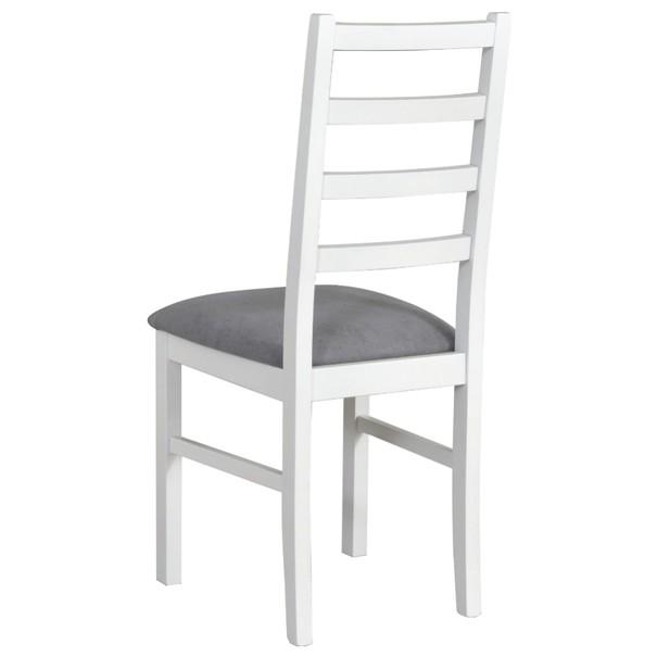 Jídelní židle NILA 8 šedá/bílá 2