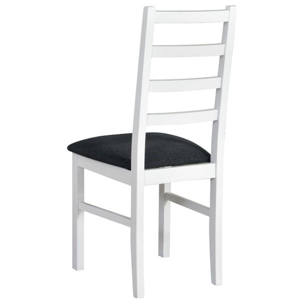 Jídelní židle NILA 8 tmavě šedá/bílá 2