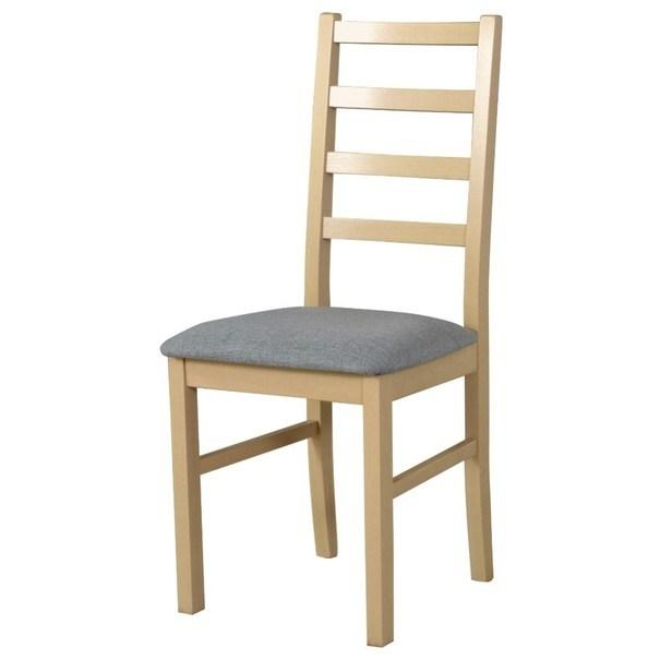 Jídelní židle NILA 8 světle šedá/dub sonoma 1