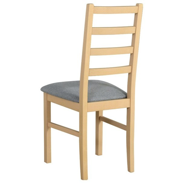 Jídelní židle NILA 8 světle šedá/dub sonoma 2