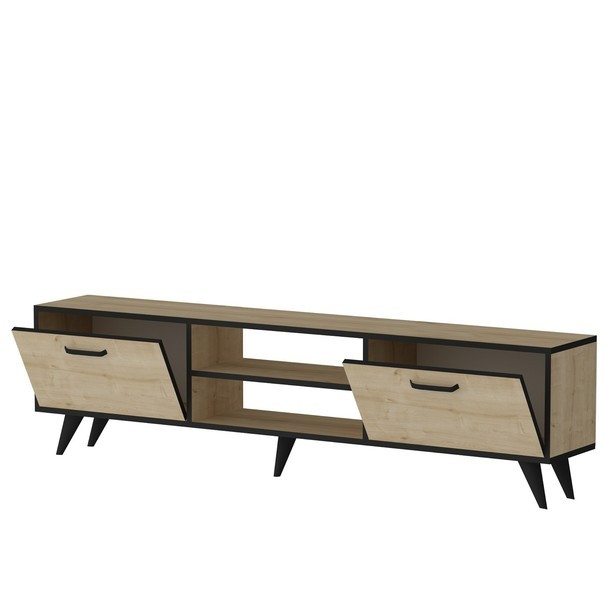 TV stolek  NIRVANA dub/černá 3