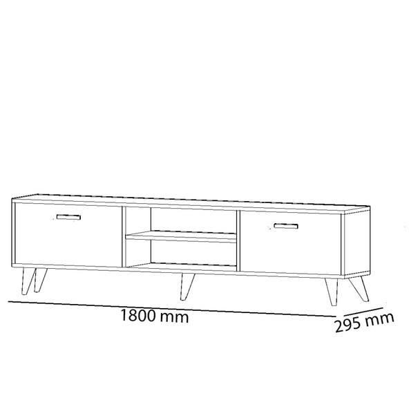 TV stolek  NIRVANA dub/černá 4
