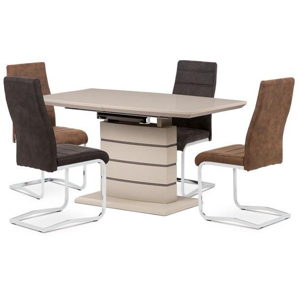 Jídelní stůl NOAH cappuccino/šedá 2
