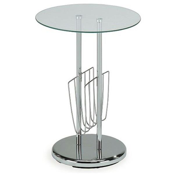 Odkládací stolík OAKLAND sklo/chróm 1