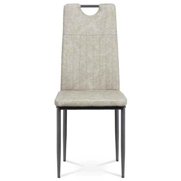 Jídelní židle OLINA šedá/antracitová 2