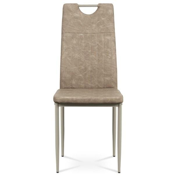 Jedálenská stolička OLINA hnedá/béžová 2