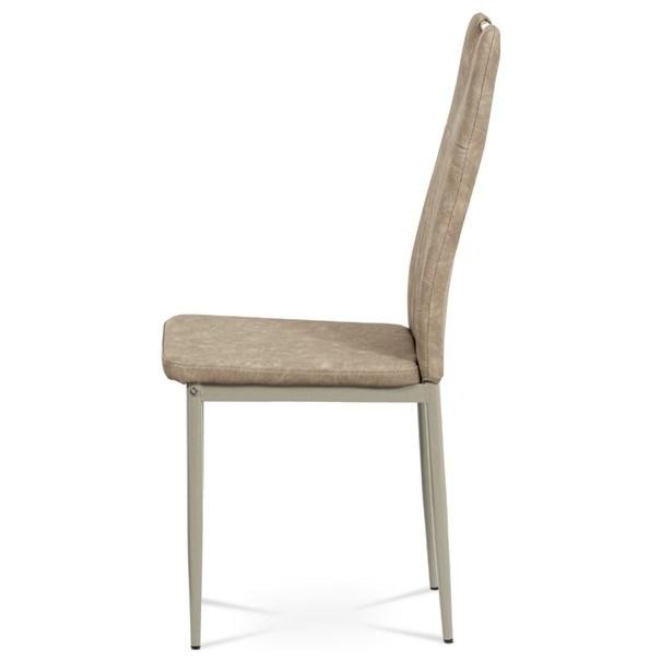 Jedálenská stolička OLINA hnedá/béžová 3