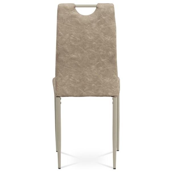 Jedálenská stolička OLINA hnedá/béžová 5