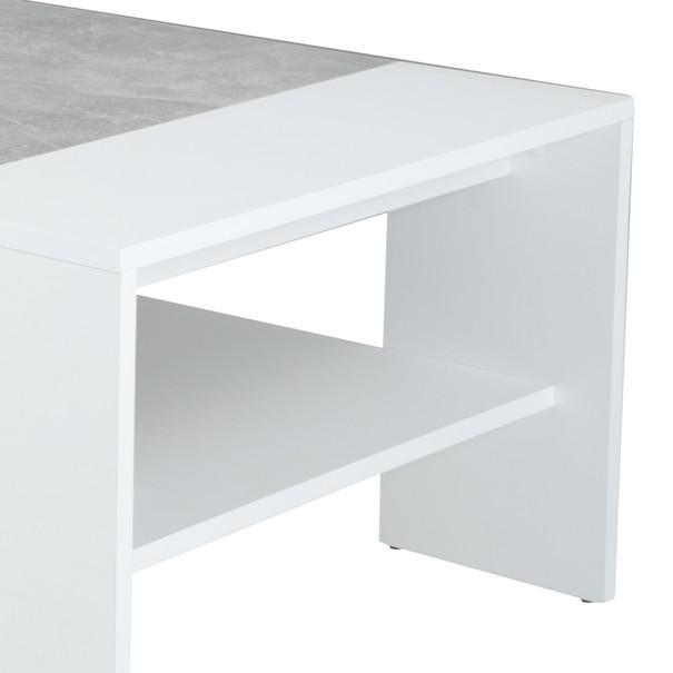 Konferenční stolek OLIVER bílá/beton 2