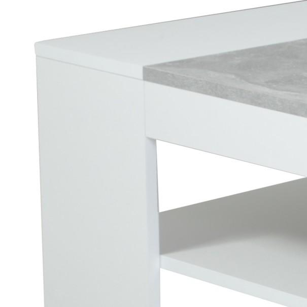 Konferenční stolek OLIVER bílá/beton 3