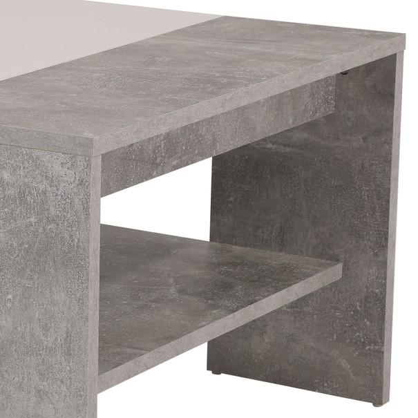 Konferenční stolek OLIVER beton/bílá 2
