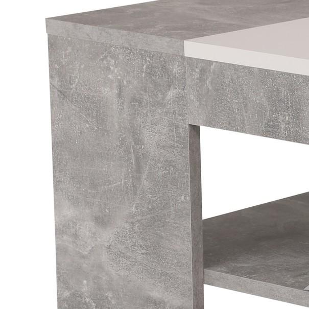 Konferenční stolek OLIVER beton/bílá 3