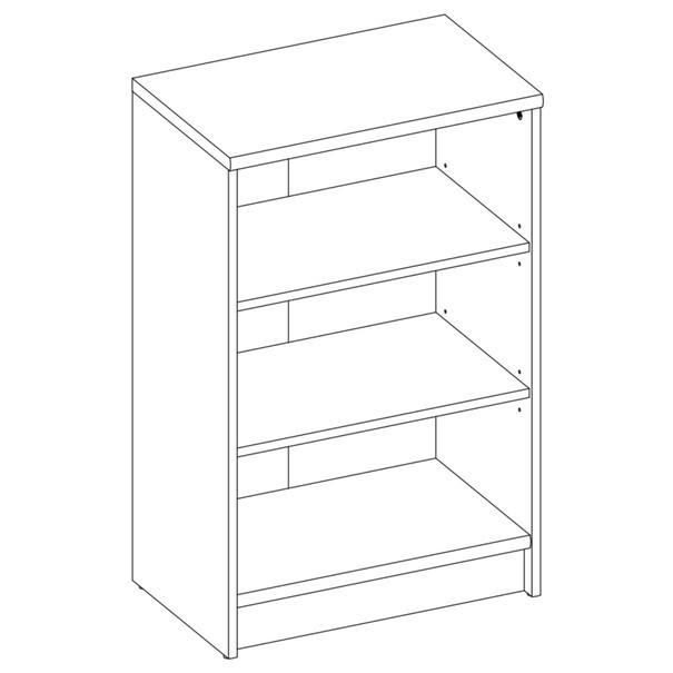 Regál/knihovna  OPTIMUS 35-001 buk 2