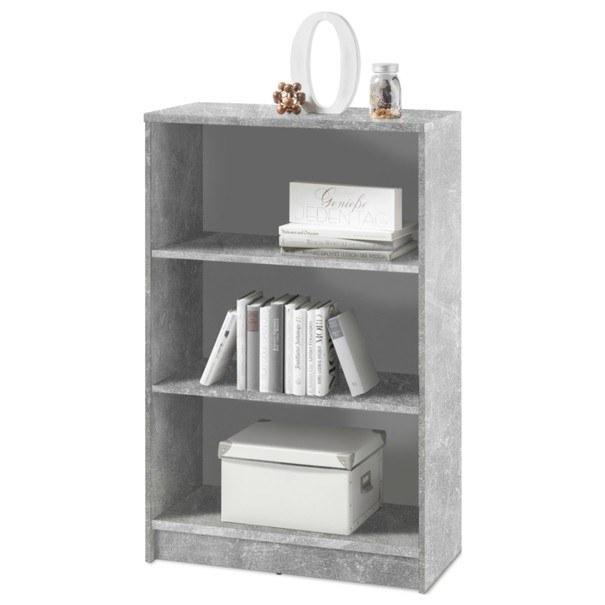 Sconto Regál/knihovna OPTIMUS 35-014-66 beton/bílá - nábytek SCONTO nábytek.cz
