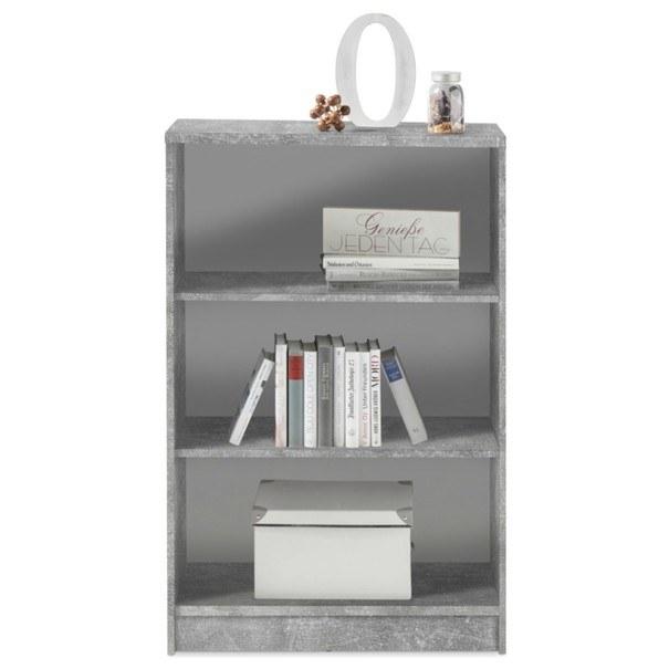 Regál/knihovna OPTIMUS 35-014-66 beton/bílá 2